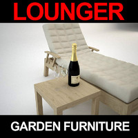 garden furniture lounger 3d model