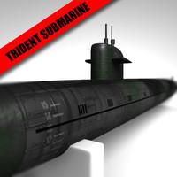 3d trident submarine model