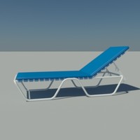 3d beach pool chair