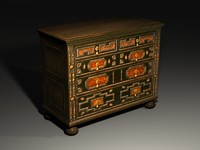 antique cabinet 3ds