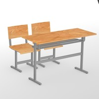 3d model school chair