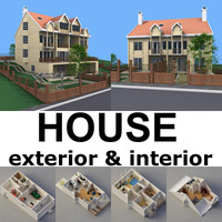 3d interior house