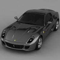 599 gtb fiorano 3d max