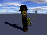 lego pirate 3d model
