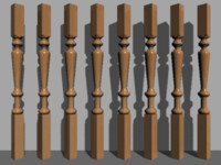 column stair decoration 3d model