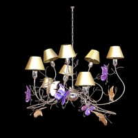 3ds chandelier butterfly
