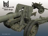 152 ml-20 soviet artillery 3d model