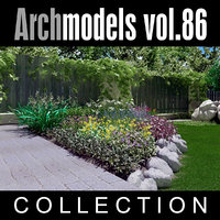 archmodels vol 86 flowers 3d model