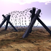 Barbed Wire Barricade