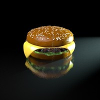 cinema4d cheeseburger