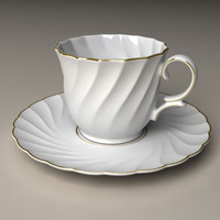 3d model of cup porcelain