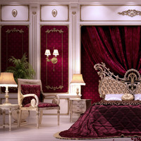 3d scenes bed asnaghi interiors model