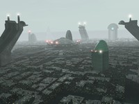 science fiction cityscape futuristic city 3d max