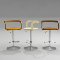 gallus bar stool 3d model