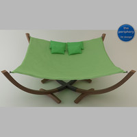 hammock bed 3d model