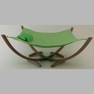 hammock bed 3d model hammock bed by theperiphery