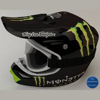 TLD Monster Helmet and Goggles