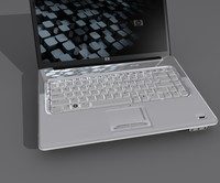 3d model hp laptop pavilion