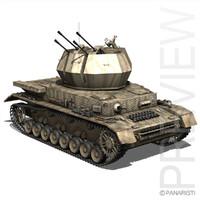 - flakpanzer iv wirbelwind 3d model