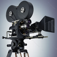 3d model camera retro movie