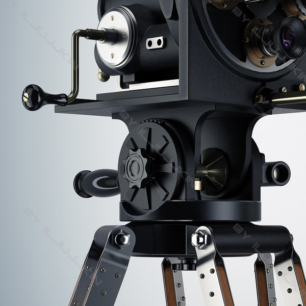 3d model camera retro movie - Retro Camera Movie... by iljujjkin