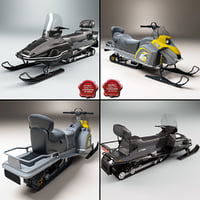 3d snowmobiles yamaha viking model