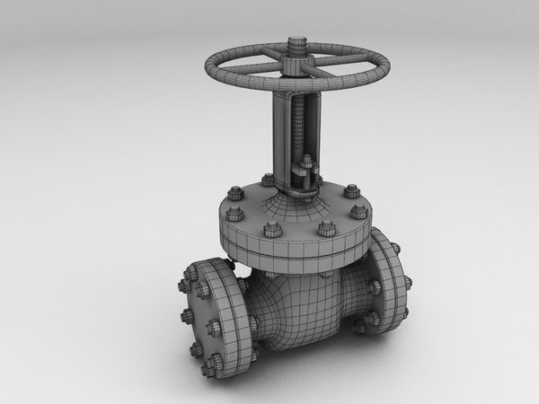 gas valve 3d model - Gas Valve... by jekich1