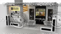 3d model fair stand exhibition