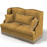 classic sofa pillows 3d fbx