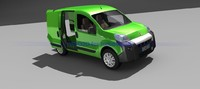 3d model fiat fiorino interior