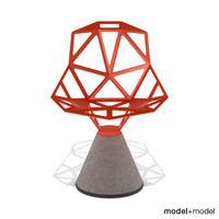 chair concrete base magis 3d 3ds