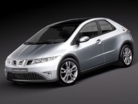 3d honda civic 2010 europe model