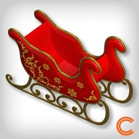3d 3ds santa sledge