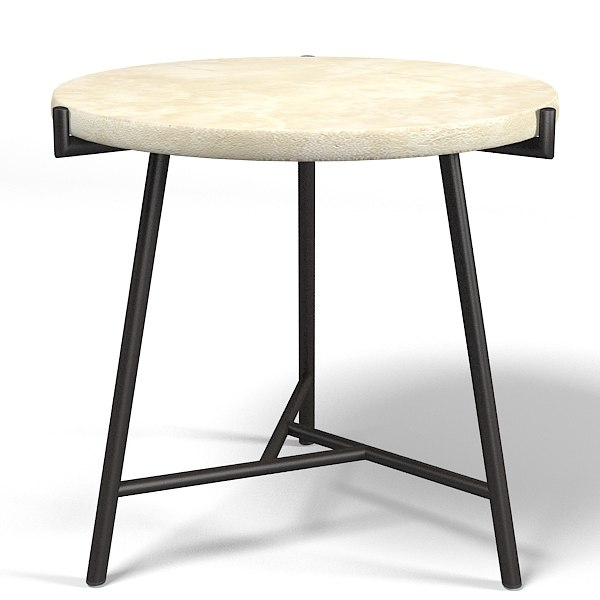 round stone modern coffee side table contemporary.jpg