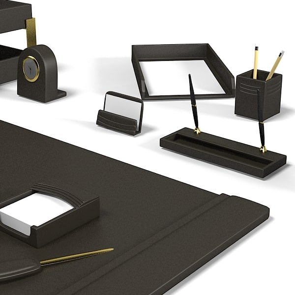 3d model office desk set luxury office desk writing set by