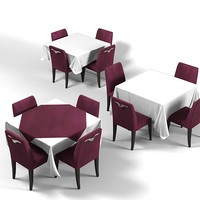 tablecloth rectangular restaurant 3d model