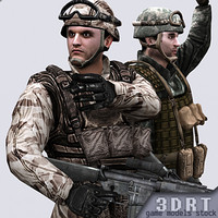 army marines characters 3d 3ds