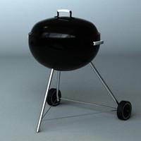 3d barbecue webber braai
