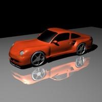 3d porsche 911 turbo m