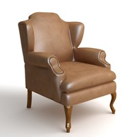 classical leather 3d model