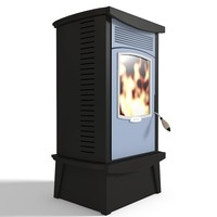 free stove wood burning 3d model