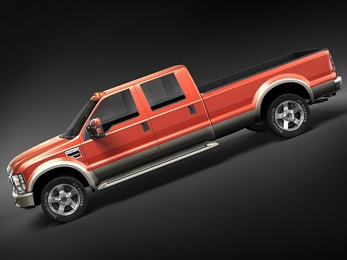 3d model f250 2008 midpoly - ford f250 2008 midpoly... by squir