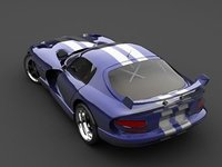 3d dodge viper coupe