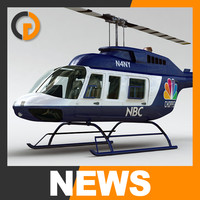 3d bell 206l helicopter interior model