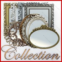 Collection of mirrors in frames