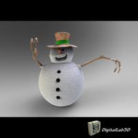 3d snowman sculpture children