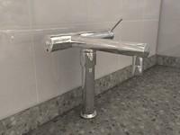 3d model bath filler tap