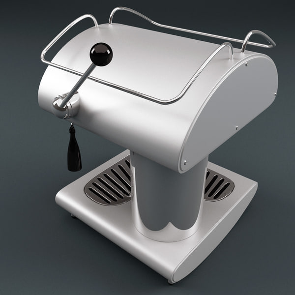 Retro Coffee Maker Ariete 3d Model