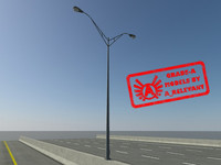 3d model hd streetlight 2010 lights