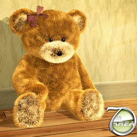 realistic teddy bear 3ds